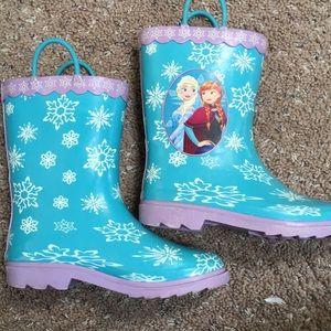 Size 2 Frozen Rainboots